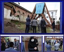 بازدید سرپرست منطقه دو شهرداری رشت از روند تکمیل پروژه بهسازی دکتر حشمت با حضور پیمانکار پروژه