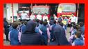 حضور 50 دانش آموز بهمراه 8 مربی در سازمان آتش نشانی برای آموزش ایمنی و آتش نشانی