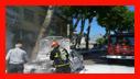 آتش گرفتن خودروی سواری در خیابان سعدی رشت/آتش نشانی رشت