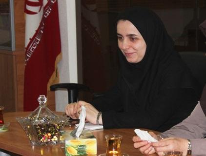 جلسه معارفه سرکار خانم عاطفه تقی پور بعنوان  سرپرست ریاست درآمد و نوسازی